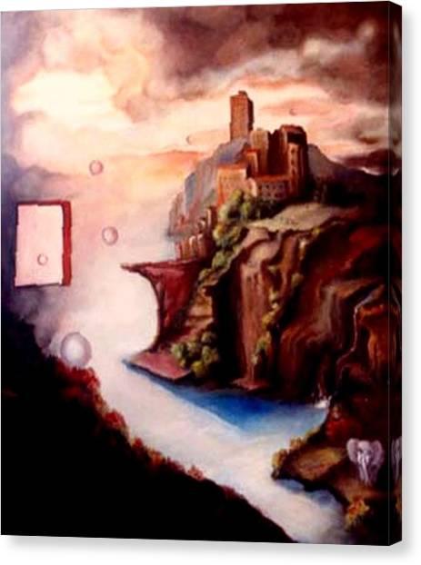 The Window Canvas Print by Jordana Sands