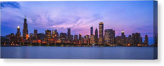 Lake Michigan Canvas Print - The Windy City by Scott Norris