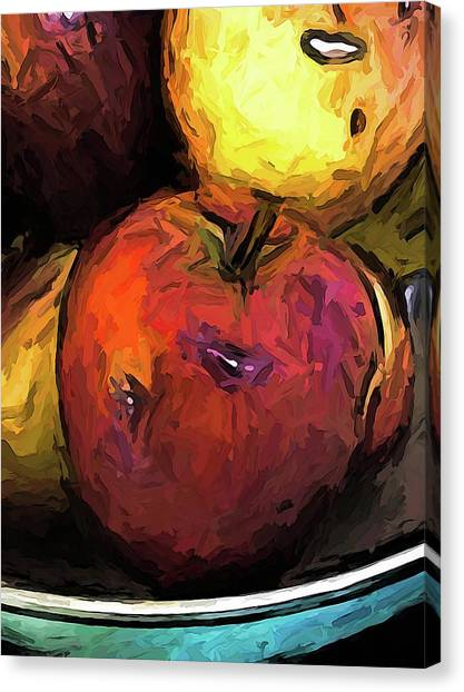 The Wine Apple With The Gold Apples Canvas Print