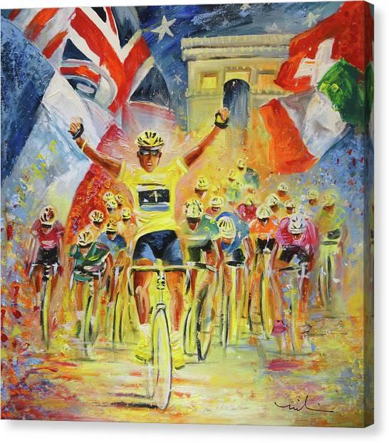 The Winner Of The Tour De France Canvas Print