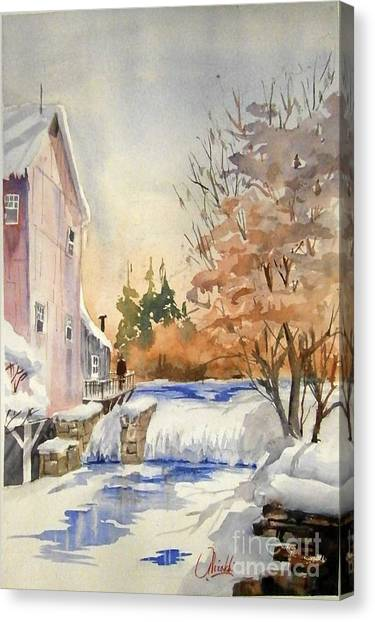 The Winter Mill Canvas Print