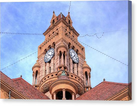 The Wise County Courthouse Clock Tower Canvas Print by JC Findley