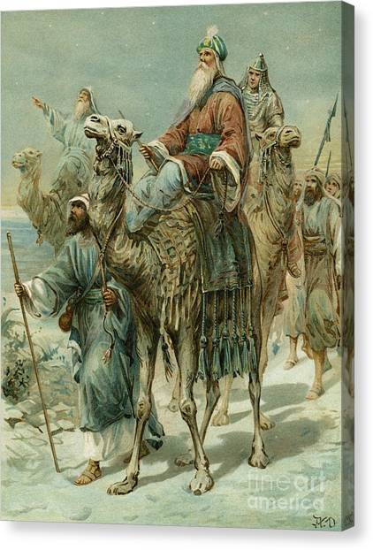 Camel Canvas Print - The Wise Men Seeking Jesus by Ambrose Dudley