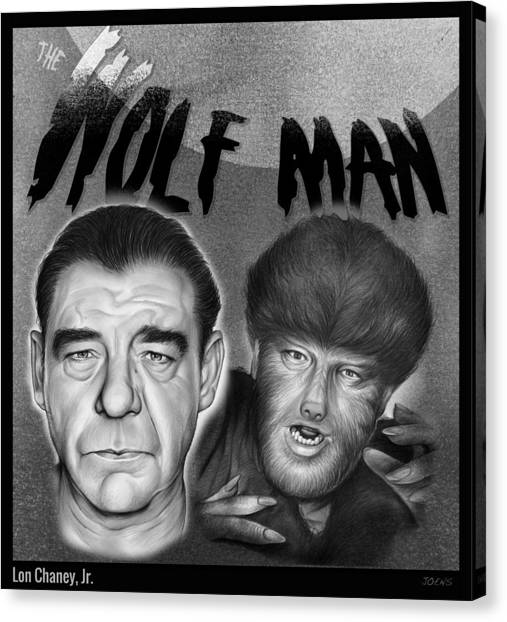 Pencils Canvas Print - The Wolf Man by Greg Joens