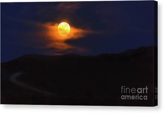 Wolf Moon Canvas Print - The Wolf Moon by Robert Bales