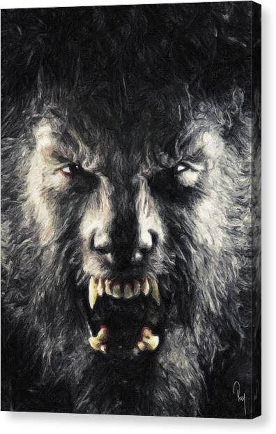 Anthony Hopkins Canvas Print - The Wolfman by Zapista