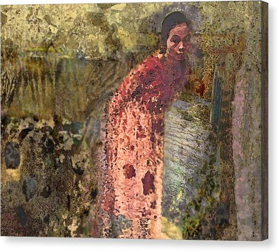 The Woman At His Tomb Canvas Print