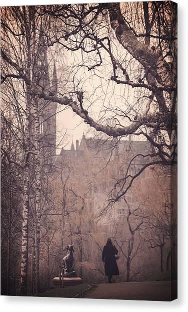 Brown University Canvas Print - The Woman In Black by Carol Japp