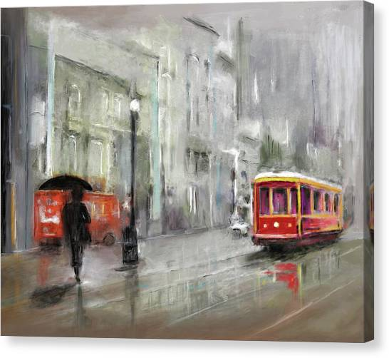 The Woman In The Rain Canvas Print