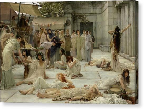 God Of War Canvas Print - The Women Of Amphissa by Sir Lawrence Alma-Tadema