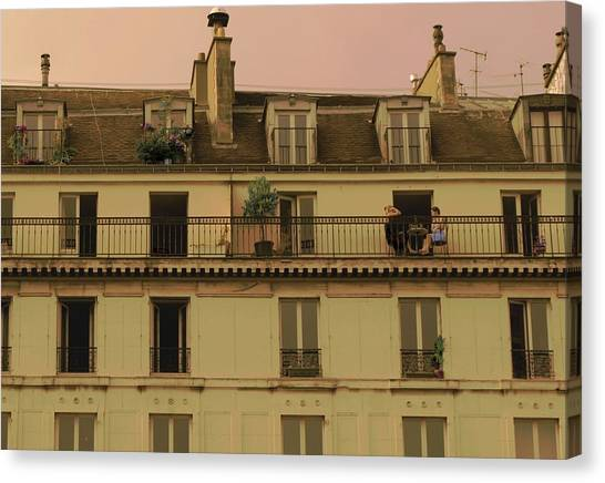 The Women On The Balcony Canvas Print by Louise Fahy