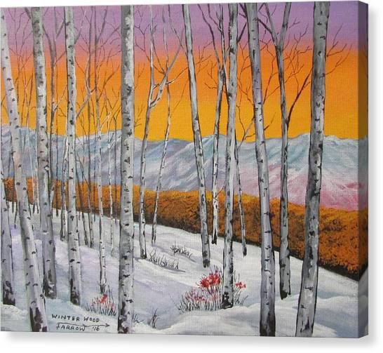 The Wood Lot Canvas Print