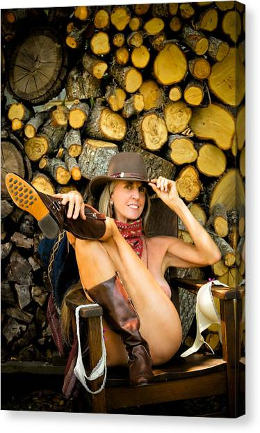 The Wood Pile Canvas Print