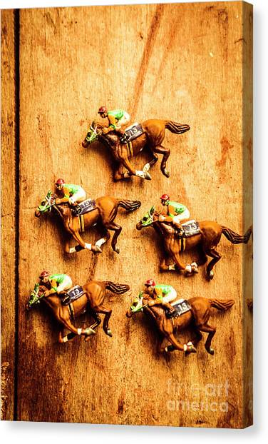 Horseracing Canvas Print - The Wooden Horse Race by Jorgo Photography - Wall Art Gallery