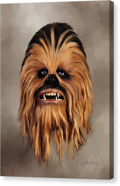 Chewbacca Canvas Print - The Wookiee by Michael Greenaway