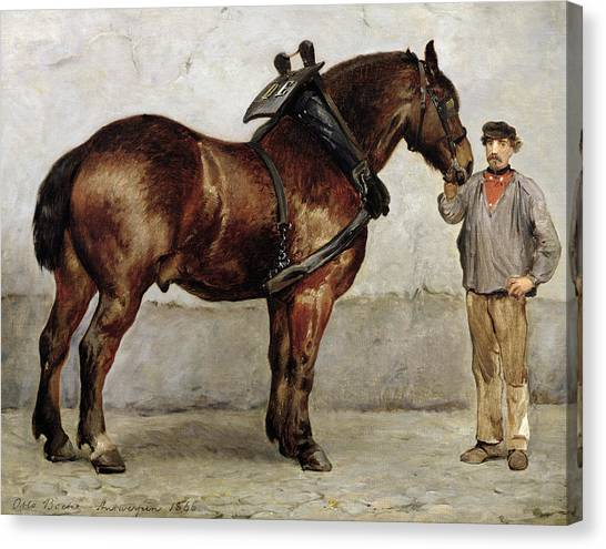 Horse Farms Canvas Print - The Work Horse by Otto Bache