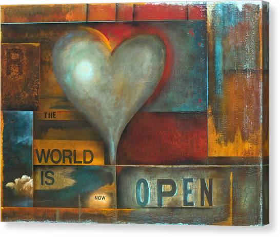 The World Is Now Open Canvas Print by Stephen Schubert