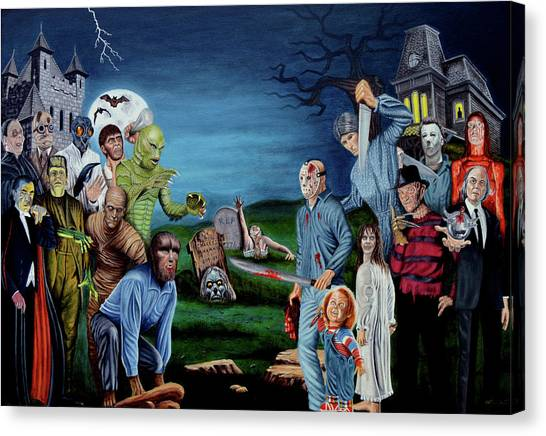 The Exorcist Canvas Print - The World Of Classic Horror by Tony Banos