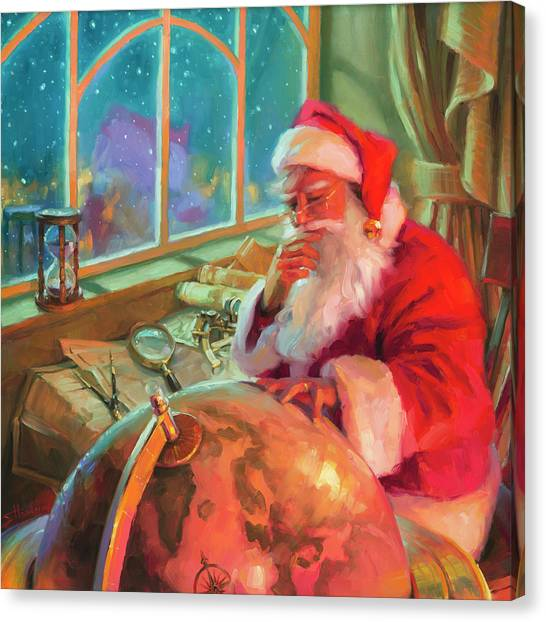 Christmas Art Canvas Print - The World Traveler by Steve Henderson