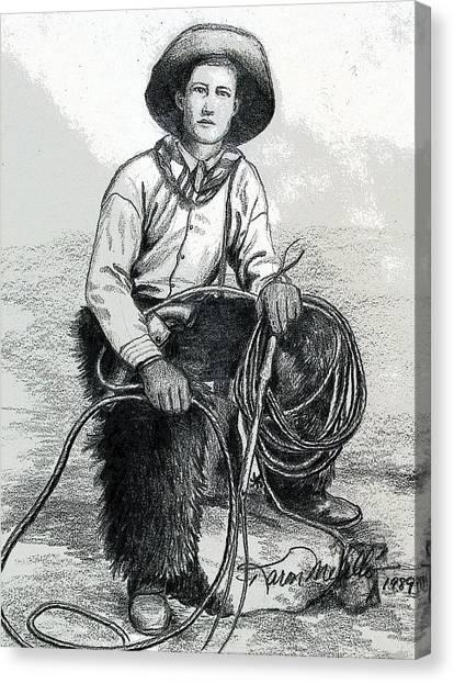 Rope Canvas Print - The Wrangler by Karon Melillo DeVega