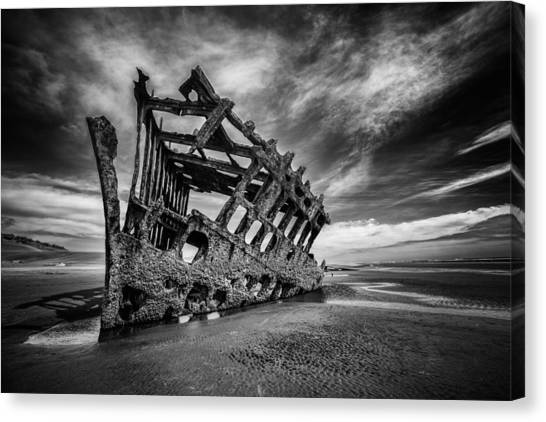 Peter Iredale Canvas Print - The Wreck Of The Peter Iredale by Rick Berk