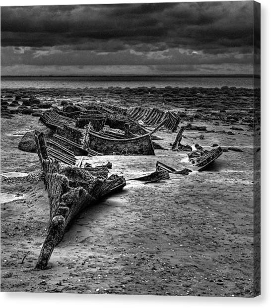 Canvas Print - The Wreck Of The Steam Trawler by John Edwards