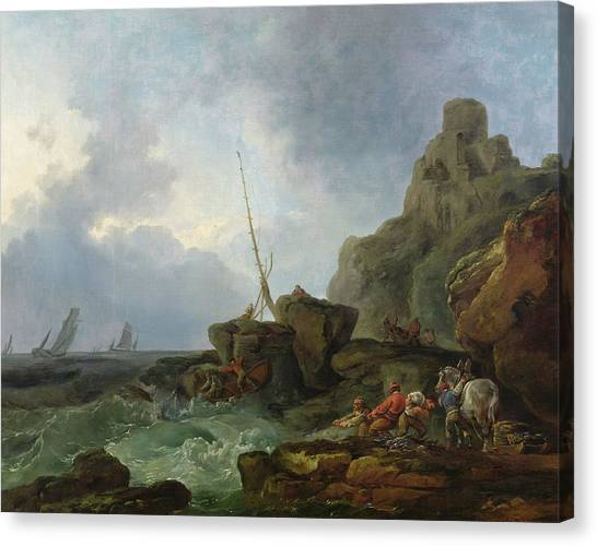 James Franco Canvas Print - The Wreckers, 1767 by Treasury Classics Art