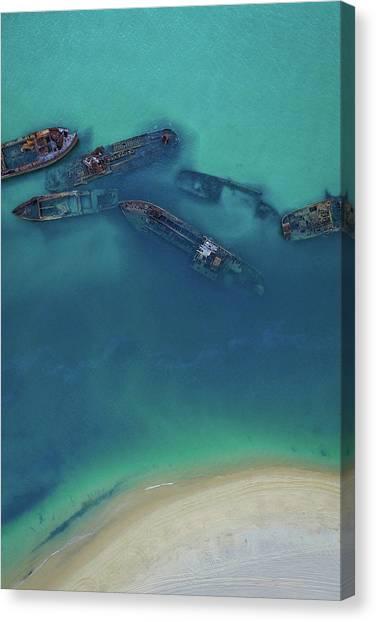 The Wrecks Canvas Print