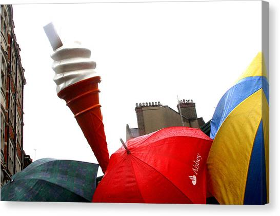 The Wrong Day For Ice Cream Canvas Print by Jez C Self