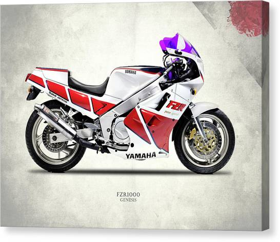 Yamaha Canvas Print - The Yamaha Fzr1000 by Mark Rogan
