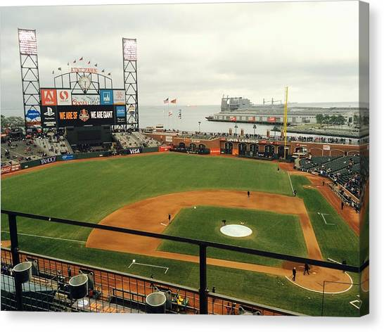 San Francisco Giants Canvas Print - The Yard by Shane Allen