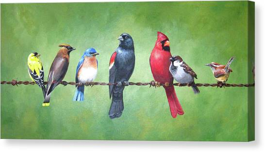 Cedar Waxing Canvas Print - The Yardbirds by Kerry Trout
