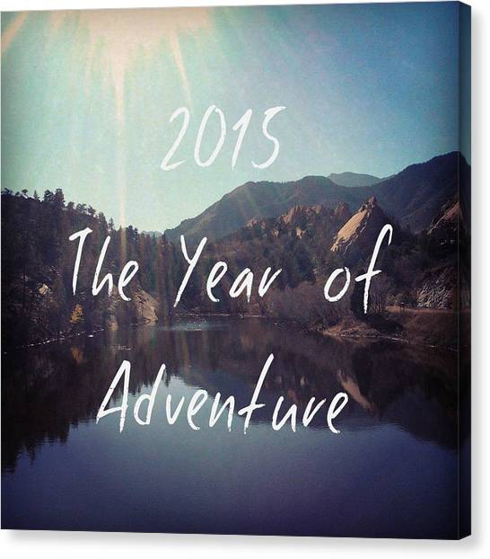 Red Rock Canvas Print - The Year Of Adventure by Heather Holloman