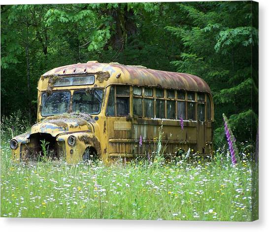 The Yellow Bus Canvas Print