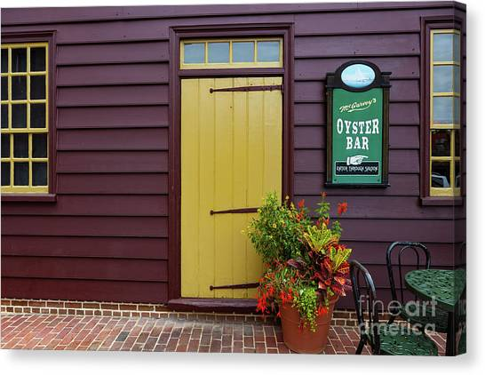 The Yellow Door In Annapolis Canvas Print