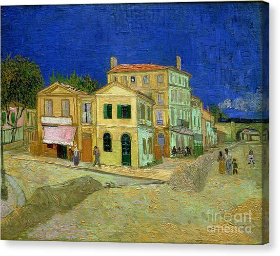 Arles Canvas Print - The Yellow House by Vincent Van Gogh