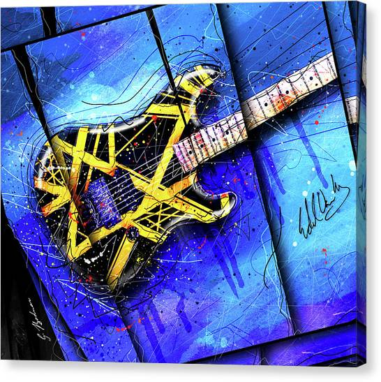 Van Halen Canvas Print - The Yellow Jacket_cropped by Gary Bodnar