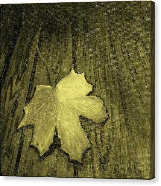 The Yellow Leaf Canvas Print by Ninna