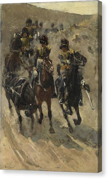 The Yellow Riders, George Hendrik Breitner, 1885 - 1886 Canvas Print
