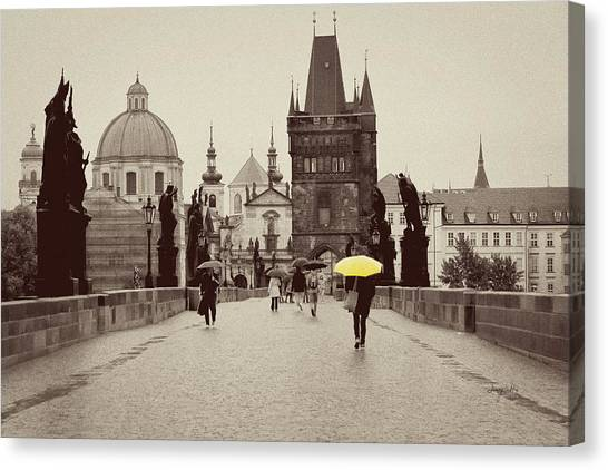 The Yellow Umbrella For Erin Canvas Print
