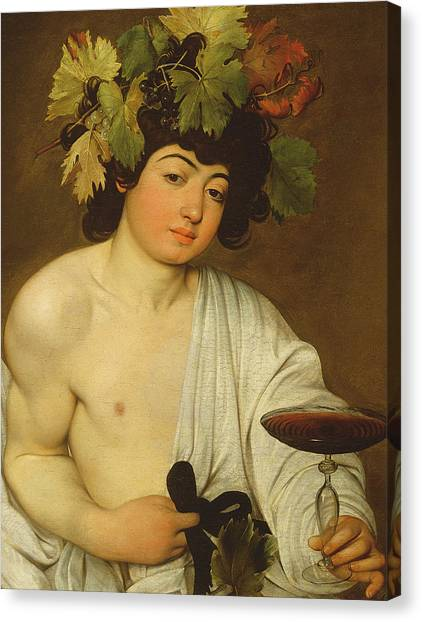 Bar Canvas Print - The Young Bacchus by Caravaggio