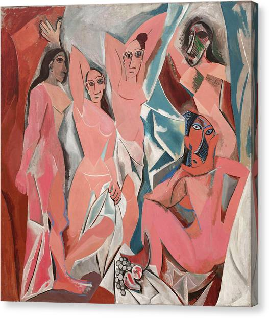 Pablo Picasso Canvas Print - The Young Ladies Of Avignon by Pablo Picasso