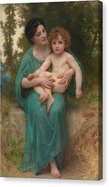 Academic Art Canvas Print - The Younger Brother by Adolphe William Bouguereau
