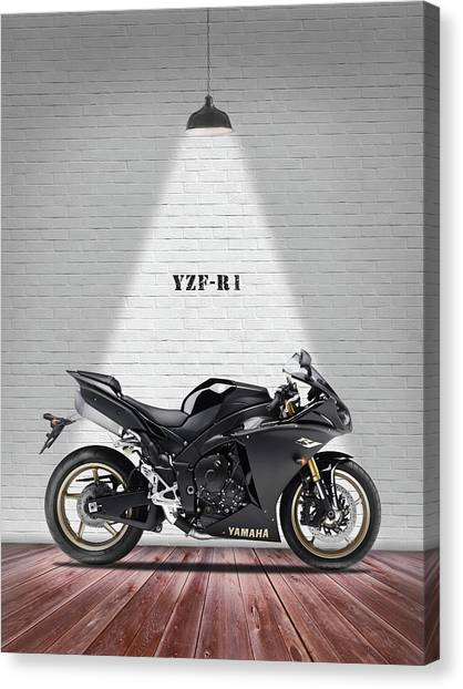 Yamaha Canvas Print - The Yzf-r1 Motorcycle by Mark Rogan