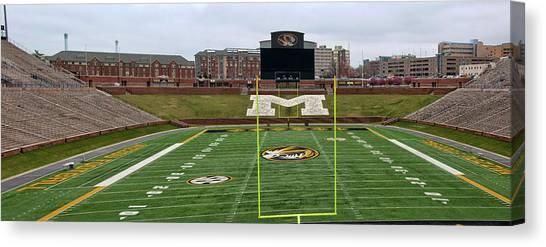 University Of Missouri Canvas Print - The Zou Panoramic by Steve Stuller