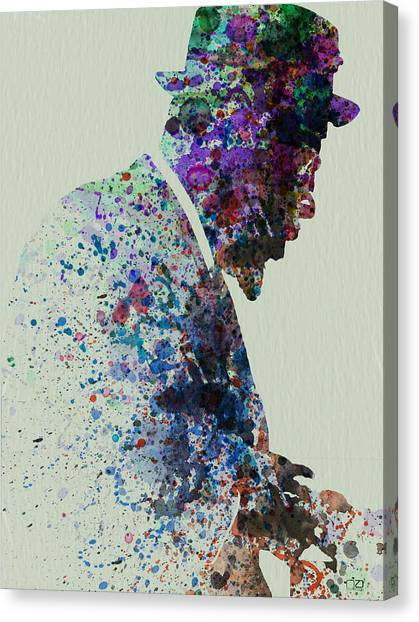 Saxophone Canvas Print - Thelonious Monk Watercolor 1 by Naxart Studio