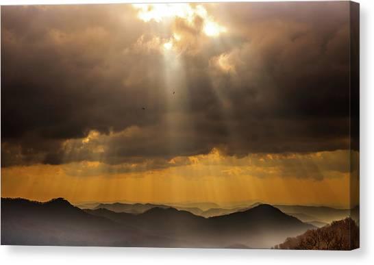 Smokey Mountains Canvas Print - Then Sings My Soul by Karen Wiles