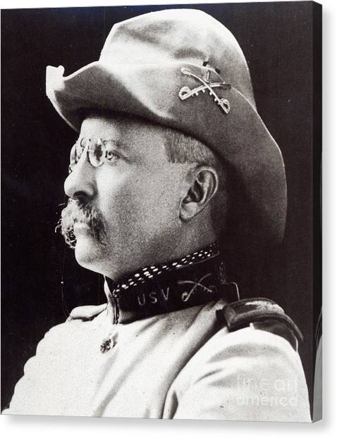 Theodore Roosevelt Canvas Print - Theodore Roosevelt As Lieutenant-colonel Of 1st Us Volunteer Cavalry In 1898 by American School