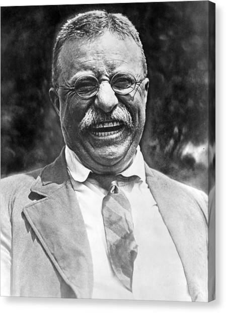 Theodore Roosevelt Canvas Print - Theodore Roosevelt Laughing by International  Images