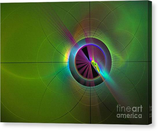 Canvas Print featuring the digital art Theory Of Green - Abstract Art by Sipo Liimatainen